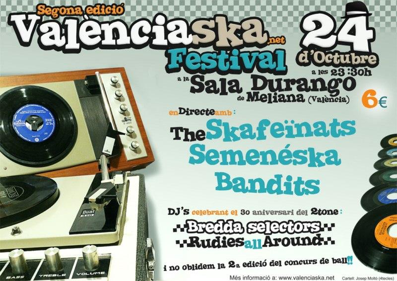 Cartell 2n València Ska Festival